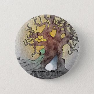 Green Figure 6 Cm Round Badge