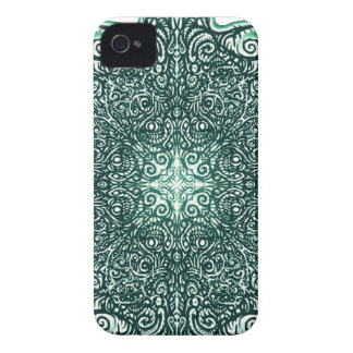 Green Fire Fractal iPhone 4 Case-Mate Cases