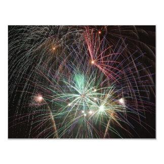 green-fireworks-at-night 11 cm x 14 cm invitation card