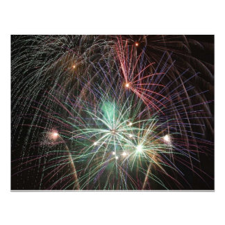 green-fireworks-at-night personalized invitations