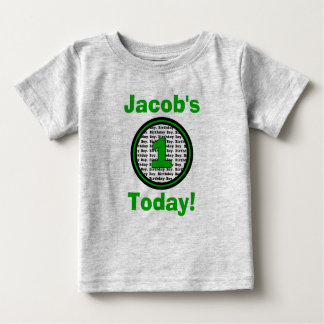 Green First Birthday Boy Shirt