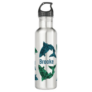 Green Fish And Blue Fish Personalized 710 Ml Water Bottle