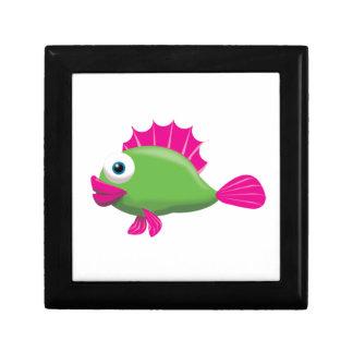 GREEN FISH SMALL SQUARE GIFT BOX