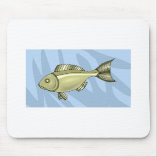 Green Fish In Water Mousepads