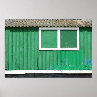 Green fisherman house poster