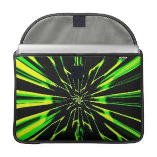 "Green Flair MacBook Pro 15"" Flap Sleeve Sleeve For MacBooks"