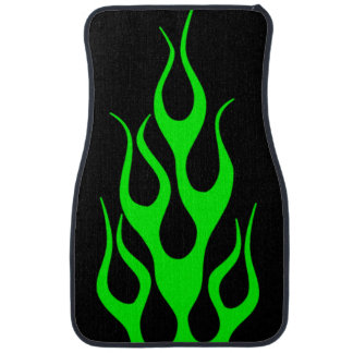 Green Flame Graphics Car Mat