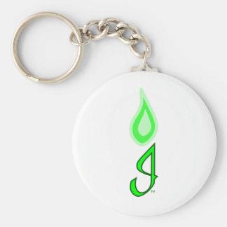 Green Flame Logo Key Chain