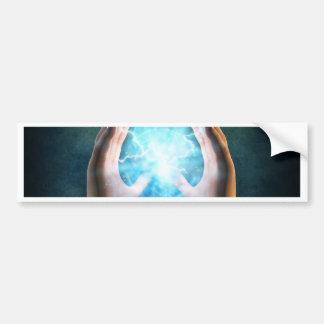 Green flame  powerful healing hands bumper sticker