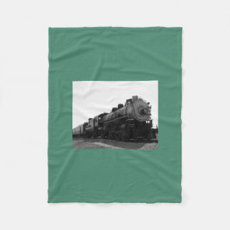 Green Fleece Blanket Steam Engine