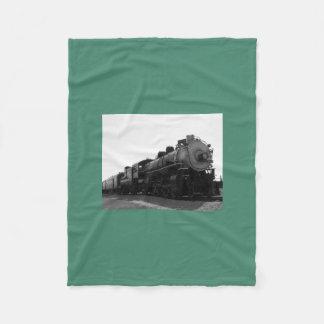 Green Fleece Blanket Steam Engine
