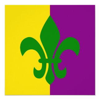 Green Fleur de Lis Card