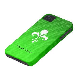 Green Fleur de lis Case-Mate iPhone 4 Case