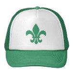 Green Fleur de Lis Mesh Hat