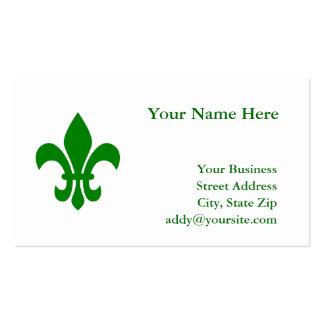 Green Fleur de Lis Pack Of Standard Business Cards