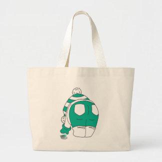 Green Flip Flop Multies rock my world Large Tote Bag