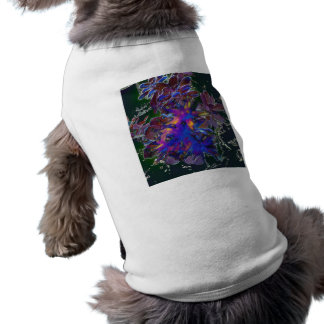 Green Floral Abstract Dog T-shirt