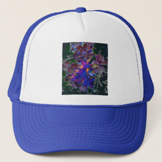 Green Floral Abstract Trucker Hat