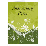 green floral, Anniversary Party