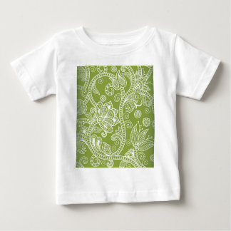 green floral baby T-Shirt