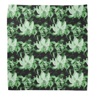 Green Floral Bandana
