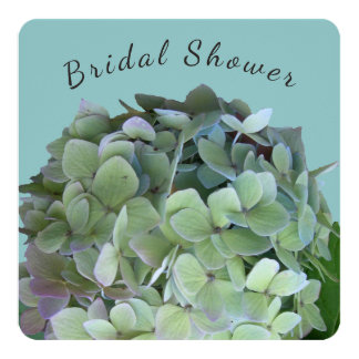 Green Floral Bridal Shower Square Invitation