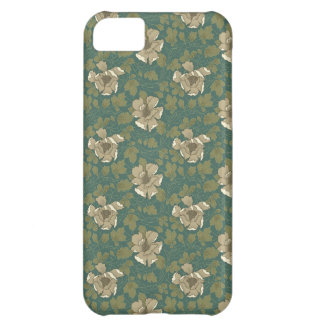 Green Floral iPhone 5C Cases