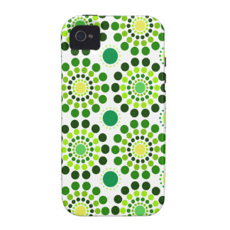 Green Floral Vibe iPhone 4 Covers