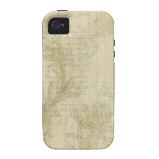 Green Floral Collage iPhone 4 Case