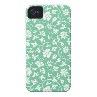 Green Floral Damask iPhone 4/4S Case