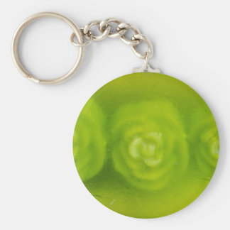 green floral decoration key chains