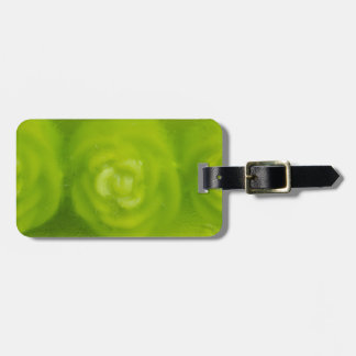 green floral decoration bag tags