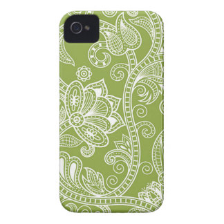 green floral iPhone 4 cover