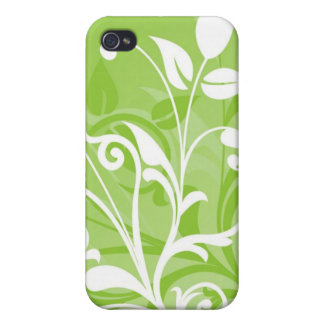 Green Floral iPhone 4/4S Cases
