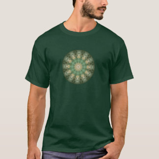 Green Floral Medallion Kaleidoscope T-Shirt