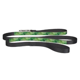 Green floral pattern dog leash