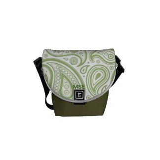 Green Floral Pattern Mini Messenger Bag