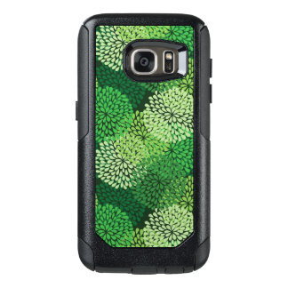 Green floral pattern OtterBox samsung galaxy s7 case