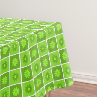 Green Floral Pattern Tablecloth