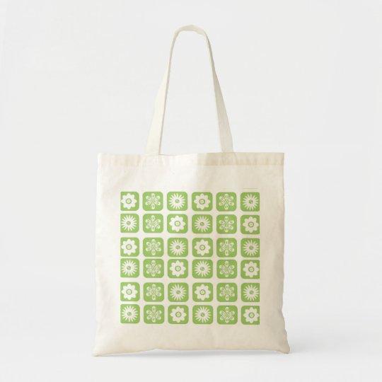 Green Floral Pattern Tote Bag