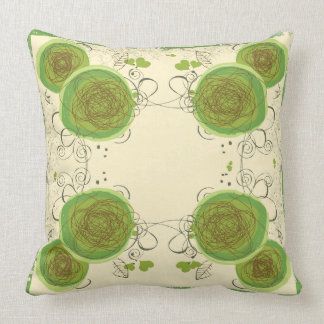 green floral pillow pattern