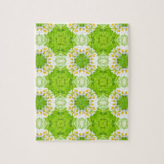 Green floral texture jigsaw puzzle