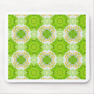 Green floral texture mouse pad