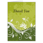 green floral Thank You