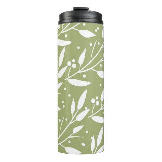 Green Floral Thermal Tumbler