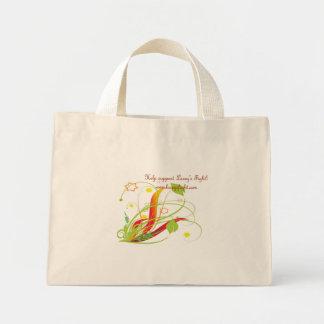 green floral tote mini tote bag