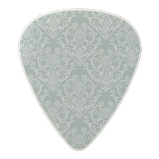 Green floral wallpaper acetal guitar pick