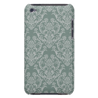 Green floral wallpaper barely there iPod case