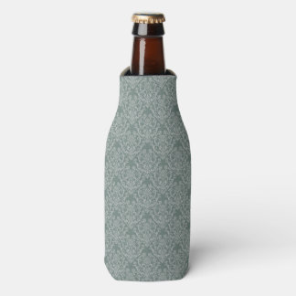 Green floral wallpaper bottle cooler
