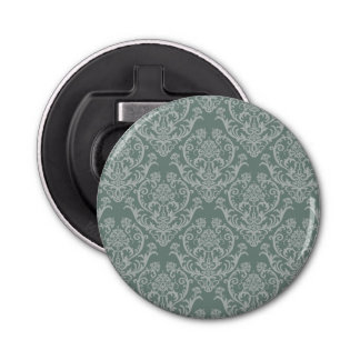 Green floral wallpaper bottle opener